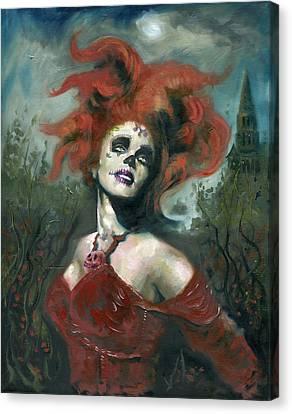 Bride Of The Dead Canvas Print by Luis  Navarro