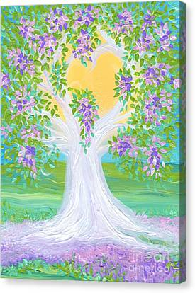 Bride's Tree Purple Canvas Print by First Star Art