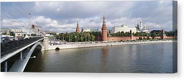 Bridge Across A River, Bolshoy Kamenny Canvas Print by Panoramic Images