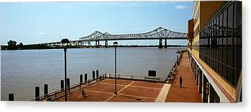 Bridge Across A River, Crescent City Canvas Print by Panoramic Images