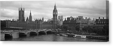 Bridge Across A River, Westminster Canvas Print by Panoramic Images