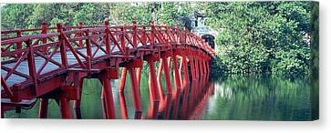 Bridge, Hoan Kiem Lake, Hanoi, Vietnam Canvas Print by Panoramic Images