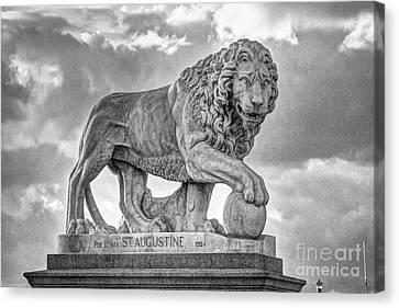 Bridge Of Lions   092 Canvas Print by C W Hooper