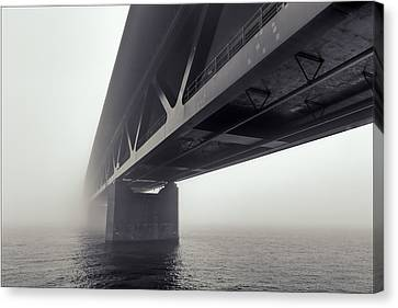 Bridge Out Of The Mist Canvas Print by EXparte SE