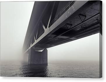 Bridge Out Of The Mist Canvas Print by EXparte SE