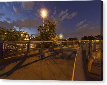 Bridge Over Denver Canvas Print by Stellina Giannitsi