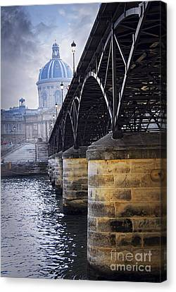 Bridge Over Seine In Paris Canvas Print by Elena Elisseeva