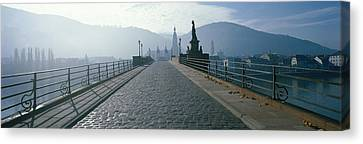 Bridge Over The Neckar River Canvas Print by Panoramic Images