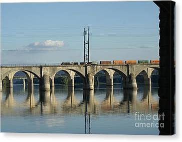 Bridge Over The Susquehanna River. Canvas Print by Rob Luzier