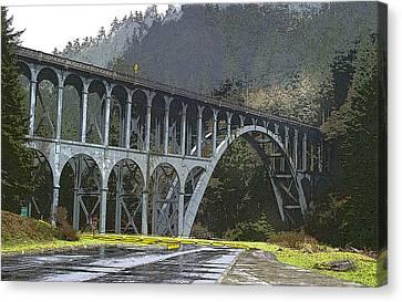 Bridge To Nowhere Canvas Print by Harold Greer