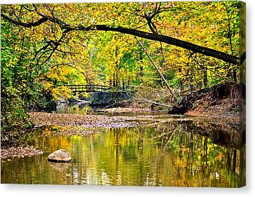 Bridges Current And Future Canvas Print by Frozen in Time Fine Art Photography