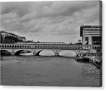 Bridges In Paris Canvas Print by Paris  France