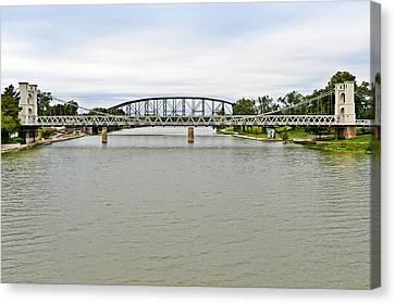 Bridges In Waco Tx Canvas Print by Christine Till