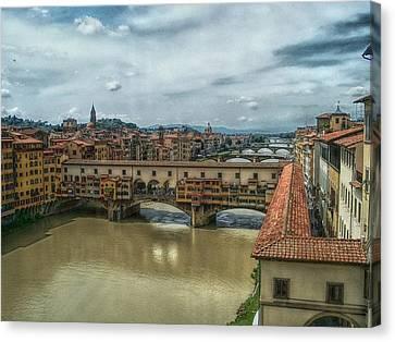 Bridges Of Florence Canvas Print by C H Apperson