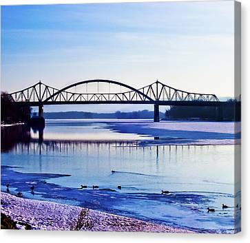 Bridges Over The Mississippi Canvas Print by Christi Kraft