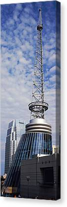 Bridgestone Arena Tower At Nashville Canvas Print by Panoramic Images