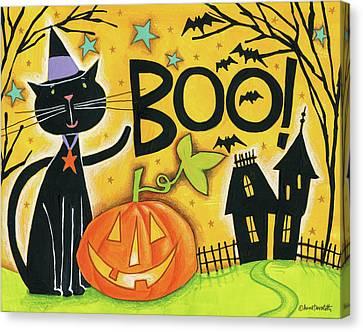 Bright Halloween II Canvas Print by Anne Tavoletti