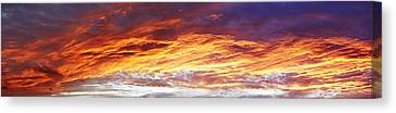 Bright Summer Sky Canvas Print by Les Cunliffe