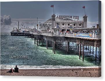 Brighton Pier Canvas Print by Jasna Buncic
