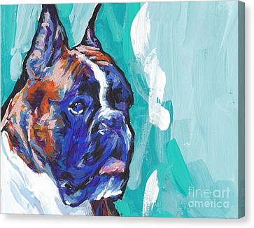 Brindle Boxer Baby Canvas Print by Lea S