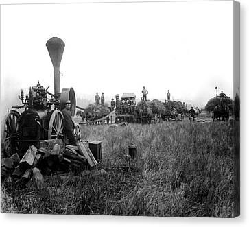 Bringing In The Hay C. 1906 Canvas Print by Daniel Hagerman