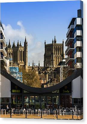 Bristol Cathederal Canvas Print by Brian Roscorla