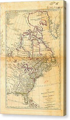 British North America Canvas Print by American Philosophical Society