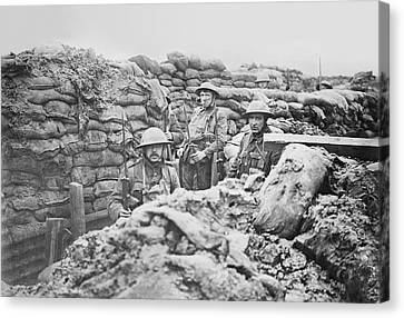 British Trench Canvas Print by Library Of Congress
