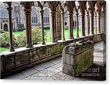Brittany Cloister  Canvas Print by Olivier Le Queinec
