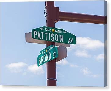 Broad And Pattison Where Philly Sports Happen Canvas Print by Photographic Arts And Design Studio