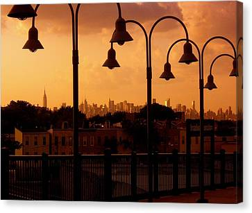 Broadway Junction In Brooklyn Canvas Print by Monique Wegmueller