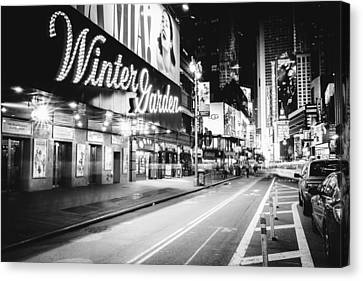 Broadway Theater - Night - New York City Canvas Print by Vivienne Gucwa