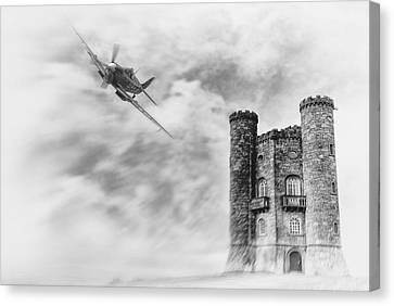 Broadway Tower Flyby Canvas Print by Peter Chilelli