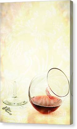 Broken Wine Glass Canvas Print by Stephanie Frey