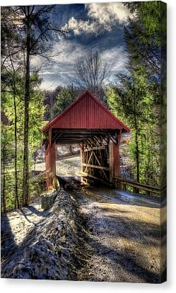 Sterling Covered Bridge - Stowe Vermont Canvas Print by Joann Vitali