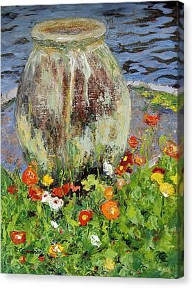 Brookgreen Urn Canvas Print by Cecelia Campbell