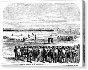 Brooklyn Baseball, 1866 Canvas Print by Granger