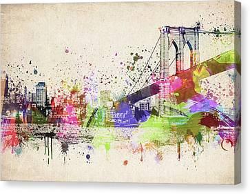 Brooklyn Bridge Canvas Print by Aged Pixel