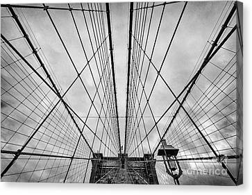 Brooklyn Bridge Canvas Print by John Farnan
