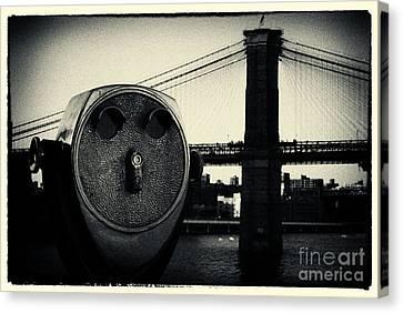 Brooklyn Bridge New York City Canvas Print by Sabine Jacobs