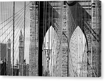 Brooklyn Bridge New York City Usa Canvas Print by Sabine Jacobs