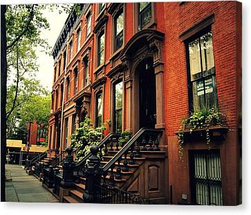 Brooklyn Brownstone - New York City Canvas Print by Vivienne Gucwa