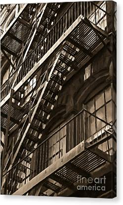 Brooklyn Fire Escapes Canvas Print by Diane Diederich
