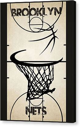 Brooklyn Nets Court Canvas Print by Joe Hamilton
