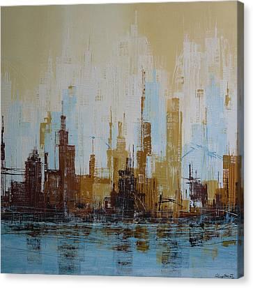 Brooklyn Skyline Canvas Print by Irina Rumyantseva