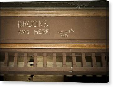 Brooks Was Here Canvas Print by Jack R Perry