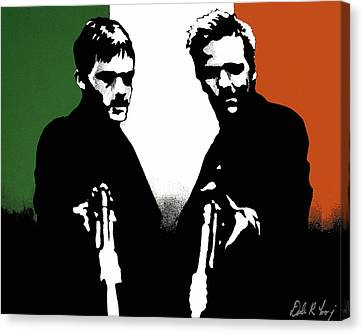 Brothers Killers And Saints Canvas Print by Dale Loos Jr