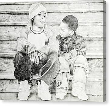 Brothers Canvas Print by Timothy Gaddy