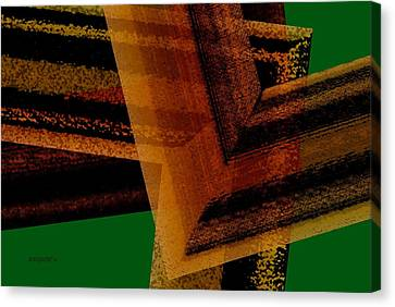 Brown And Green Art Canvas Print by Mario Perez
