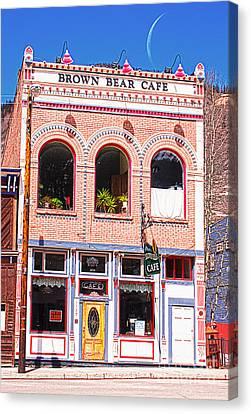 Brown Bear Cafe Silverton Colorado Canvas Print by Janice Rae Pariza